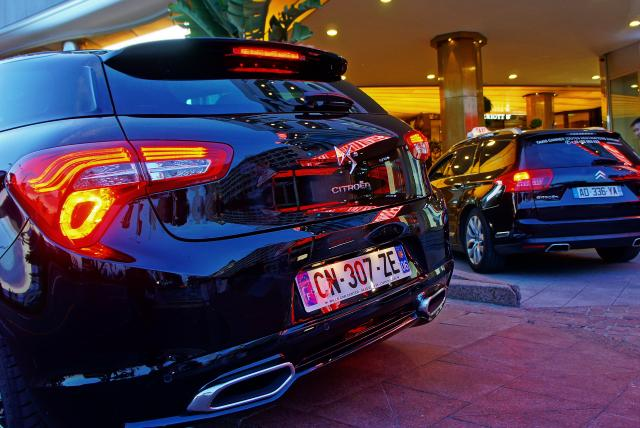 DS5 und C5 als Taxis in Cannes