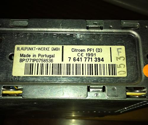 Citroen ZX Radio ohne Code Audio System 1021  (2) geä 2.JPG