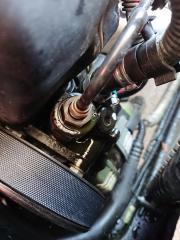 Leck Hydraulikpumpe